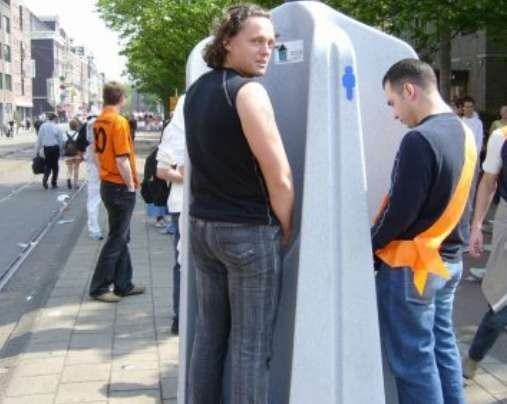 Outside Urinal