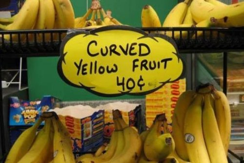Curved Yellow Fruit